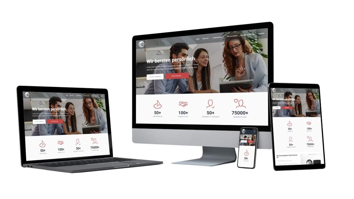Projekt Brucker responsive Website