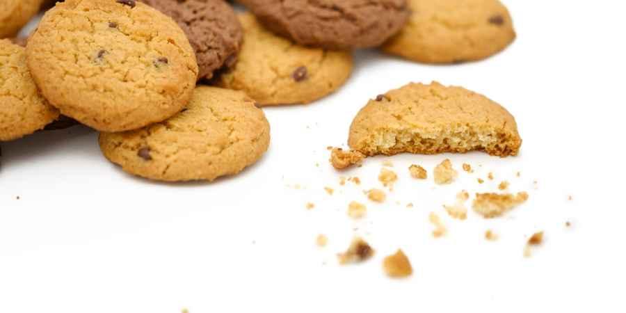Angeknabberte Cookies